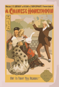 Messrs. S.s. Shubert & Nixon & Zimmerman S Production Of A Chinese Honeymoon By George Dance & Howard Talbot. Clip Art