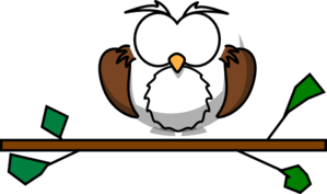 Owl In A Branch Clip Art