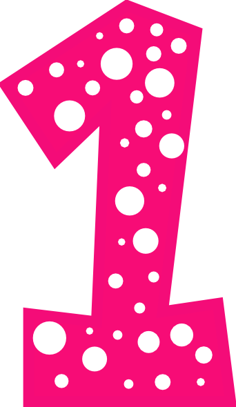 Number 1 Pink And White Polkadot Clip Art at Clker.com ...