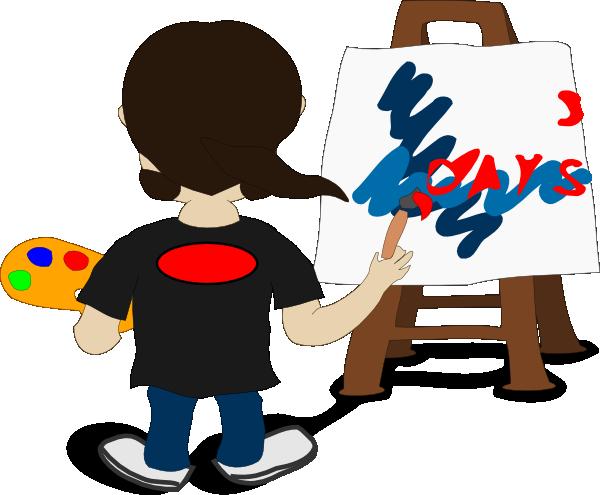 Artist Painting Clip Art at Clker.com  vector clip art online