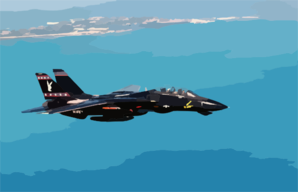 An F-14  Tomcat  Heads Back To Key West Naval Air Station (nas) After Intense  Dog Fight  Training Over The Atlantic Ocean During Exercise Cope Snapper 2002. Clip Art