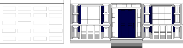 Garage Door Clip Art : Front porch windows garage door clip art at clker