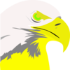 Florescent Yellow Eagle Clip Art