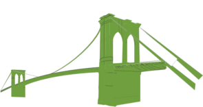 Brooklyn Bridge Green Clip Art