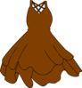 Brown Dress Clip Art