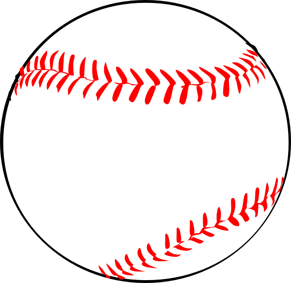Baseball W/red Laces Clip Art at Clker.com - vector clip art online ...
