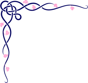 Blue And Pink Vine Clip Art