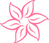 Simple Pink Flower Clip Art