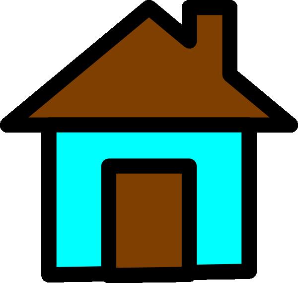 clip art blue house - photo #13