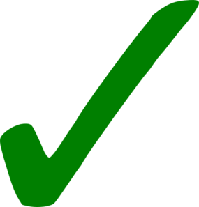 Transparent Green Checkmark Clip Art