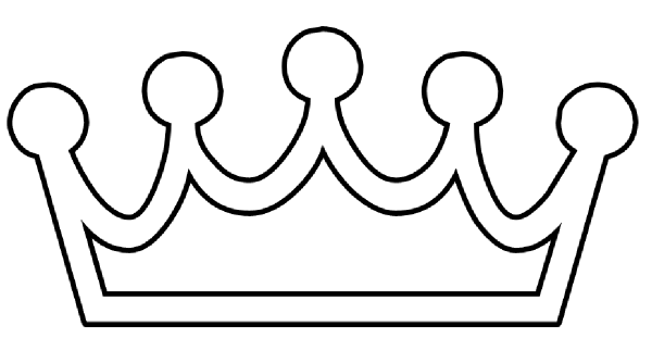 Simple king crown outline - photo#2