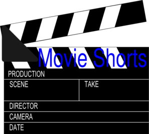 Movie Shorts Clapper Clip Art
