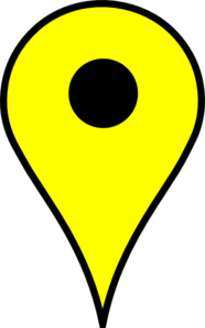 Map Pin Yellow Clip Art