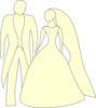 Yellow Bride And Grrom Clip Art