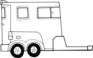 cattle trailer coloring pages - photo#43