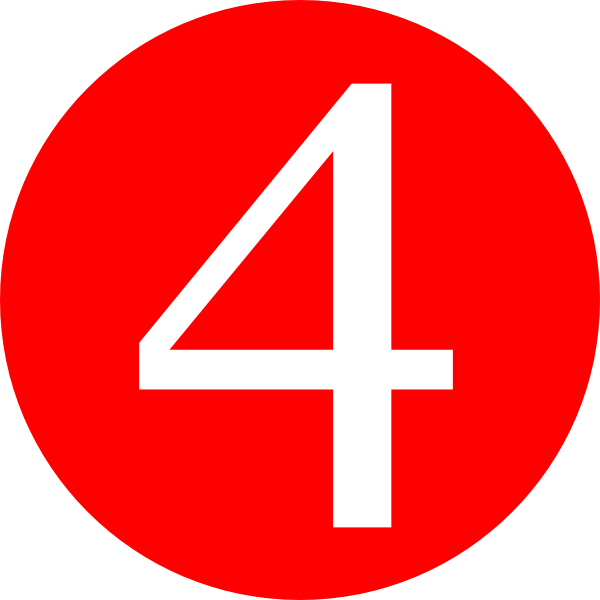 Clipart Red Rounded With Number 4 1