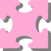 Pink Jigsaw Puzzle Clip Art
