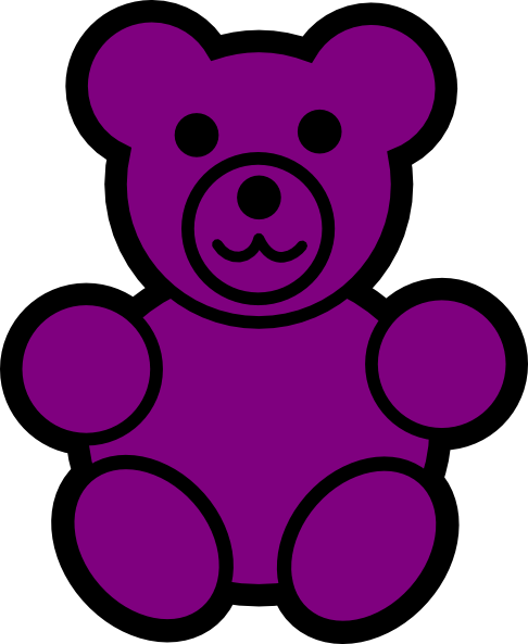 Purple Bear Clip Art at Clker.com - vector clip art online, royalty ...