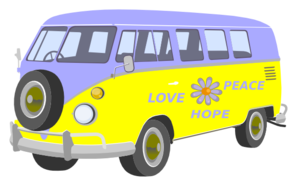 Love Peace And Hope Bus Clip Art