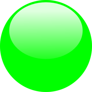Bubble Dark Green Clip Art