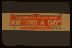 Hollywood Playhouse Now  Two A Day  A Cavalcade Of Vaudeville : Ride The Big Red Cars. Clip Art