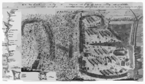 A Prospective View Of The Battle Fought Near Lake George, On The 8th Of Sepr. 1755,... Clip Art