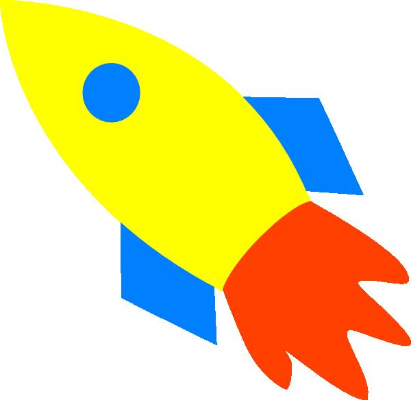 Rocket Ship Yellow Clip Art at Clker.com - vector clip art ...