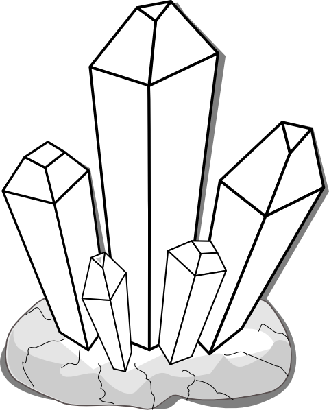 White Crystal Clip Art...