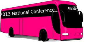 Thirty One Pink Bus Clip Art