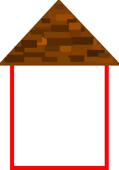 Tall House W Roof Clip Art At Clker Com Vector Clip Art