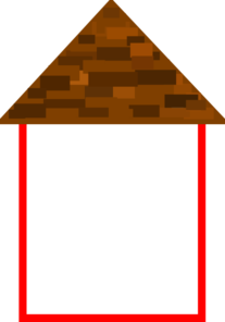 Tall House W/roof Clip Art