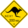 Kangaroo Traffic Sign Clip Art