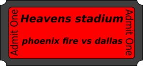 Heavens Stadium  Clip Art
