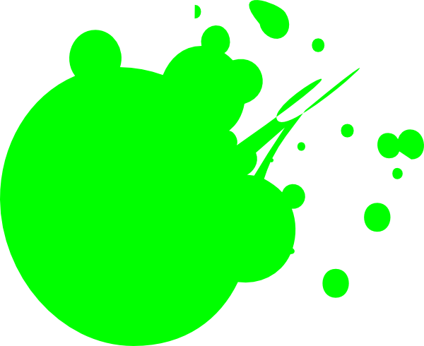 Neon Green Dot Splat Clip Art at Clker.com - vector clip ...