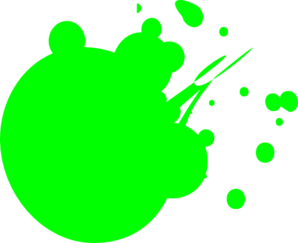 Neon Green Dot Splat Clip Art