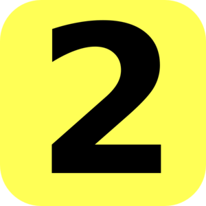 Yellow Rounded Number 2 Clip Art