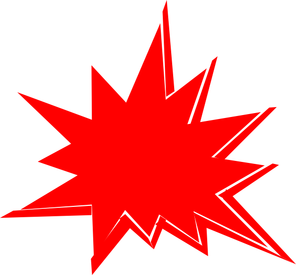 Red Explosion Clip Art at Clker.com - vector clip art online, royalty ...