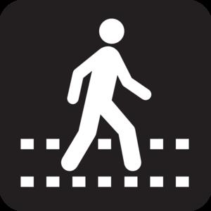 Pedestrian Symbol Clip Art at Clker com - vector clip art
