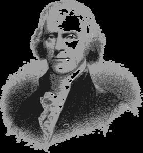 Thomas Jefferson Headshot Clip Art At Clker Com Vector