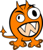 Orange Monster Clip Art