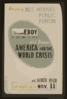 Sherwood Eddy, Author And Lecturer, Will Discuss  America And The World Crisis  8th Year Of Des Moines Public Forum / Designed & Made By Iowa Art Program, W.p.a. Clip Art