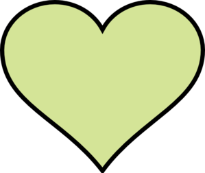 Green Heart Another Different Colour Clip Art