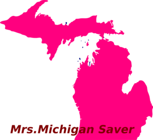 Pink Michigan Clip Art