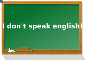 I Dont Speak English Clip Art