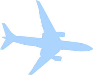 Airplane Blue Clip Art
