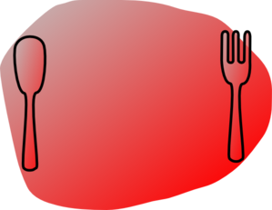 Silver Red Plate Clip Art
