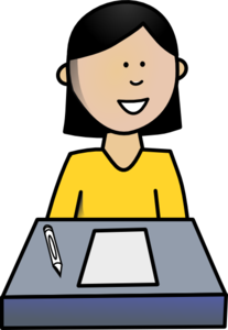 Female Student Clip Art
