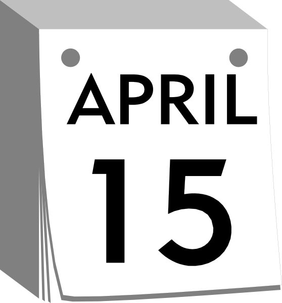 Daily Calendar Clipart : Calendar with daily sheets clip art at clker vector