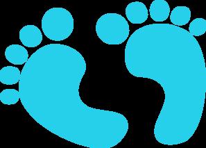 Baby Feet Blue Clip Art At Clker Com Vector Clip Art