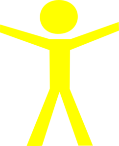 Human Figure Hands Open Yellow Clip Art